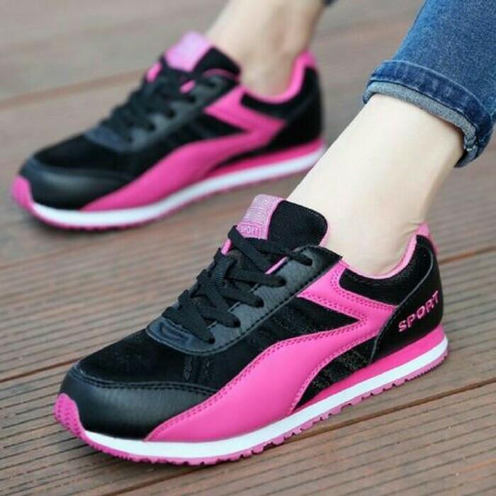 harga Sneakers spons sportivo hitam pink Tokopedia.com
