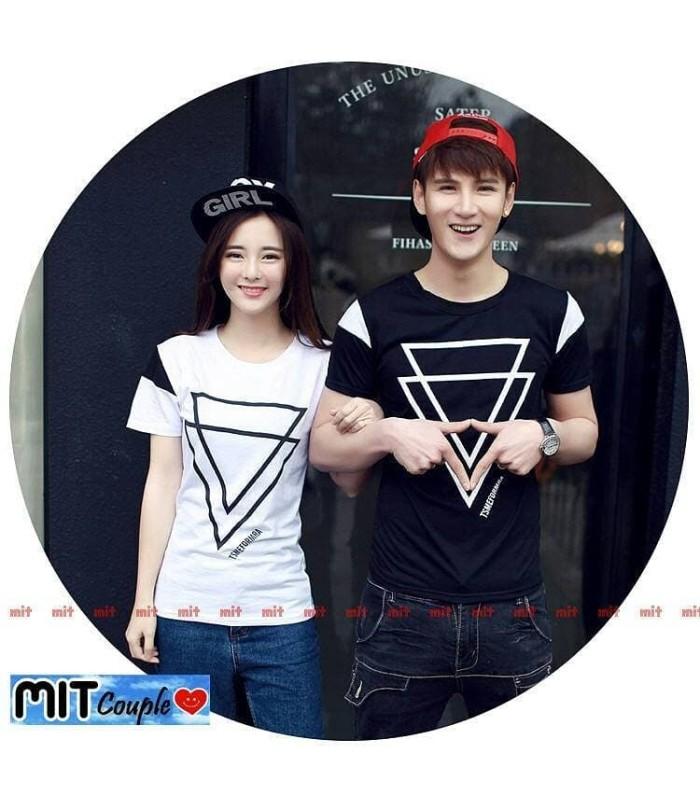 Kaos Couple / Baju Couple / Kaos Pasangan Double Triangle