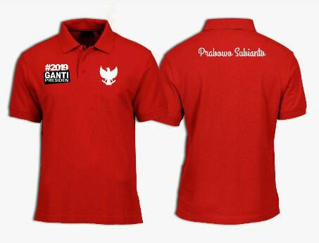 Baju kaos polo shirt pria 2019 ganti presiden prabowo  kaos presiden