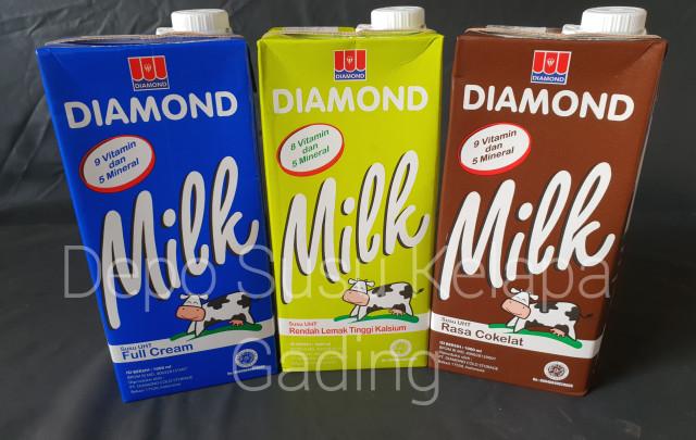 Foto Produk Susu Diamond UHT 1L All Varian X 12   Diamon Full Cream Coklat litter - Full cream dari Depo Susu Kelapa Gading