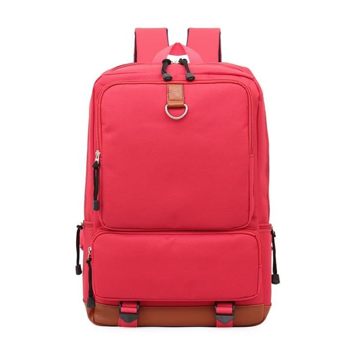 Tas Laptop / Macbook TR2 Ransel Kanvas Best Seller - Red