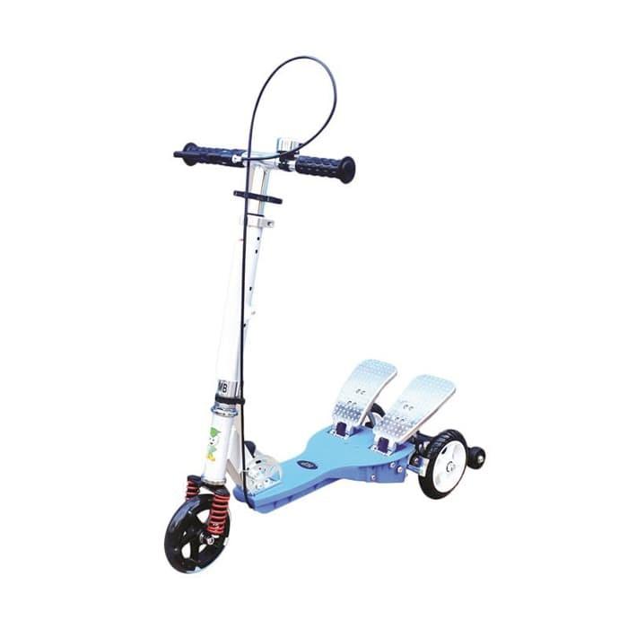 harga Skuter pedal rmb q11ap/scooter injak/scooter/otopet warna biru Tokopedia.com
