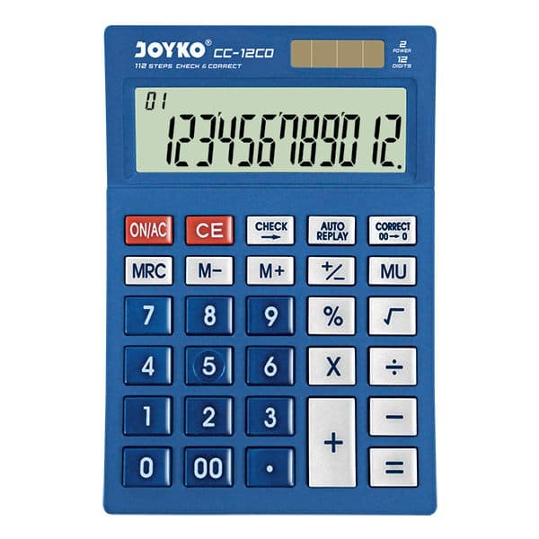 harga Calculator / kalkulator joyko cc-12co / 12 digits / check correct - biru Tokopedia.com