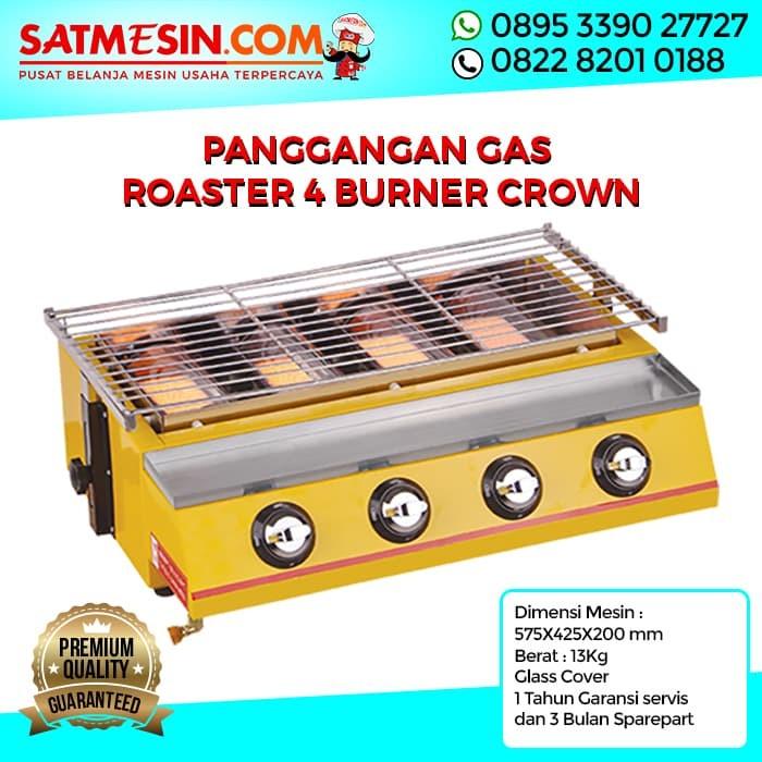 harga Crown panggangan gas roaster 4 burner alat pemanggang daging sate gril