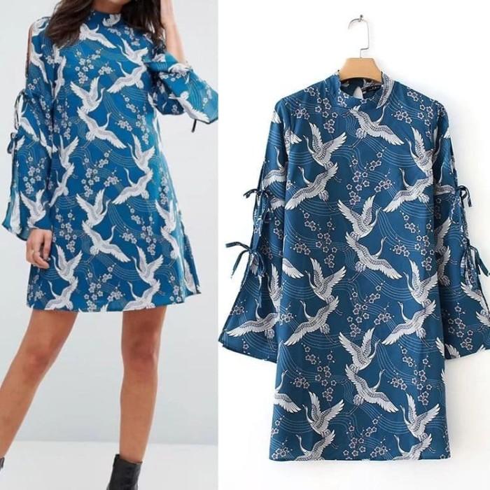 harga 834541 baju cotton polyester dress cantik simple elegan angsa swan top Tokopedia.com
