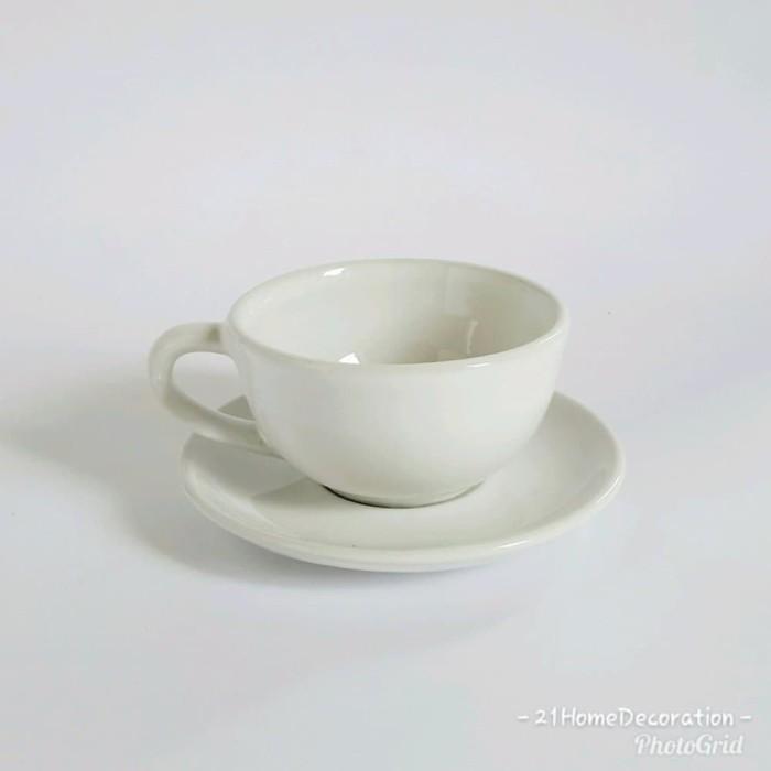 harga Cangkir tatakan 180ml gelas kopi perlengkapan minum kafe coffee teacup Tokopedia.com
