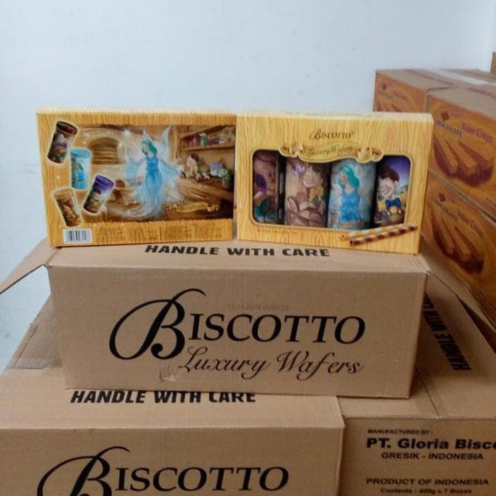 harga Biscotto luxury wafers pinokio kartonan - astor premium lebaran Tokopedia.com