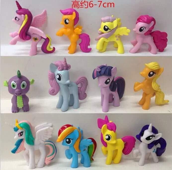 harga Best seller isi 12pc my little pony mainan boneka miniatur uk 6-7cm Tokopedia.com