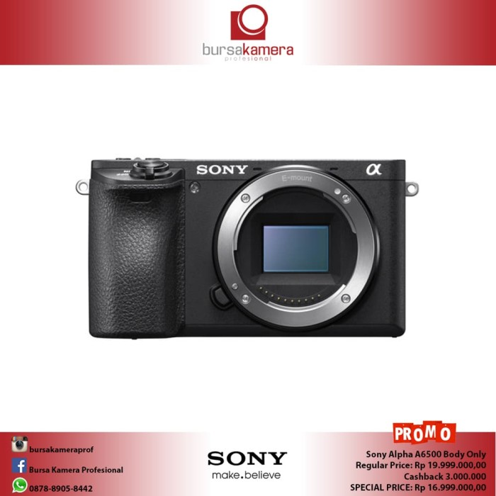 harga Sony alpha a6500 mirrorless digital camera (body only) Tokopedia.com