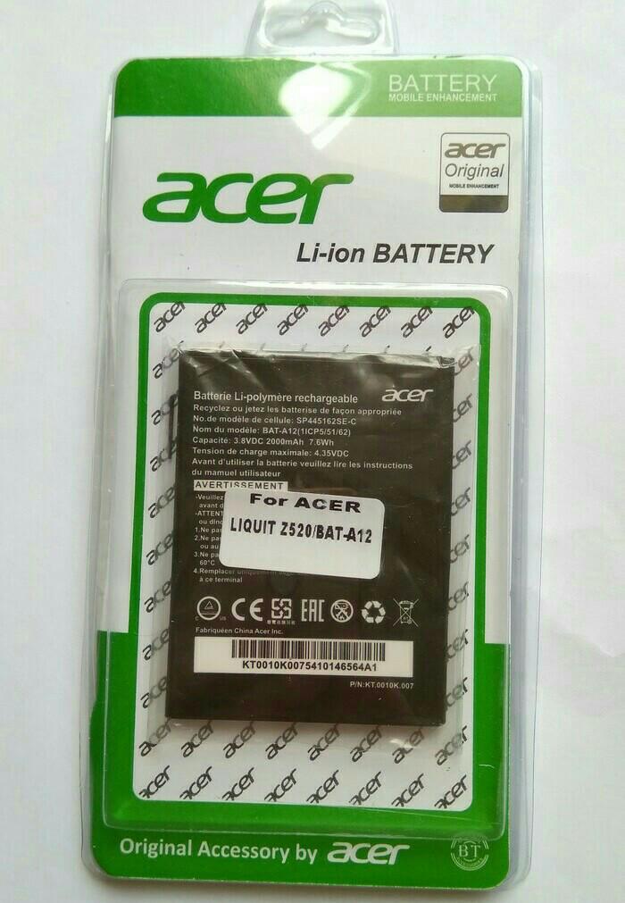 harga Batre batrei baterai battery acer liquid z520 | bat-a12 original Tokopedia.com