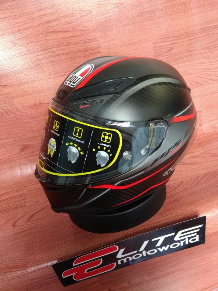 Helm AGV Pista GP R Gran Premio Rosso Carbon 4