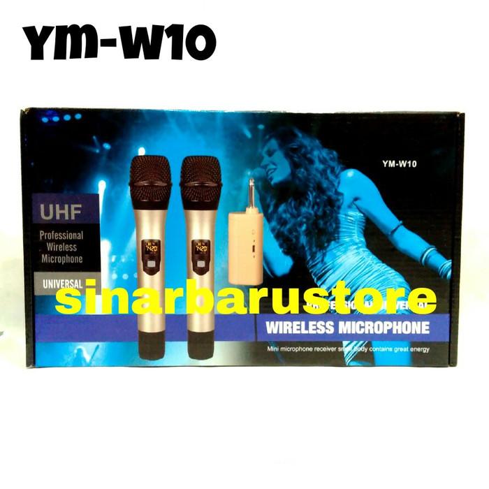 harga Mik/mic/microphone wireless  yamaha  ym-w10 2pcs Tokopedia.com
