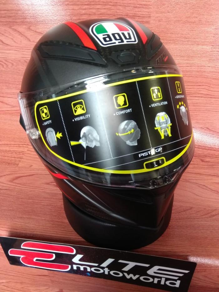 Helm AGV Pista GP R Gran Premio Rosso Carbon 3