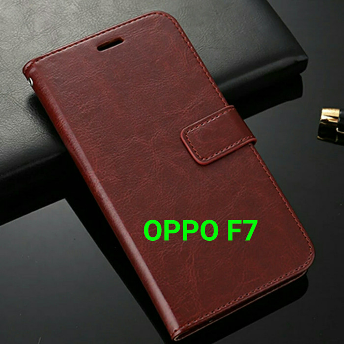 timeless design 774b9 caa90 Jual Flip Cover OPPO F7 OPPOF7 Wallet Leather Case Casing - Hitam - Kab.  Bogor - A and A Shop | Tokopedia