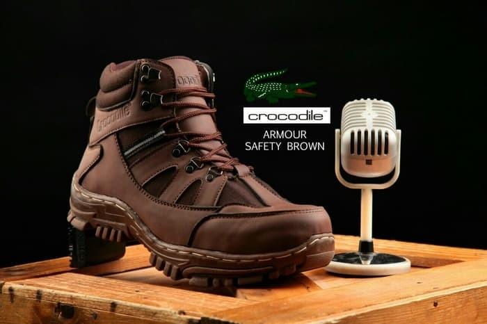 harga Magnum crocodile armour sepatu boots safety ujung besi pria proyek Tokopedia.com