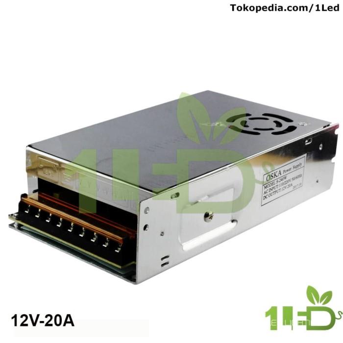 harga Power supply adaptor switching led 12v 20a 12 v volt 12 volt 20 ampere Tokopedia.com