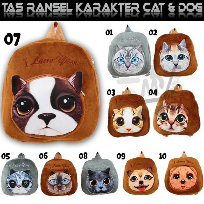 harga Tas ransel anak sekolah backpack karakter motif kucing / anjing Tokopedia.com