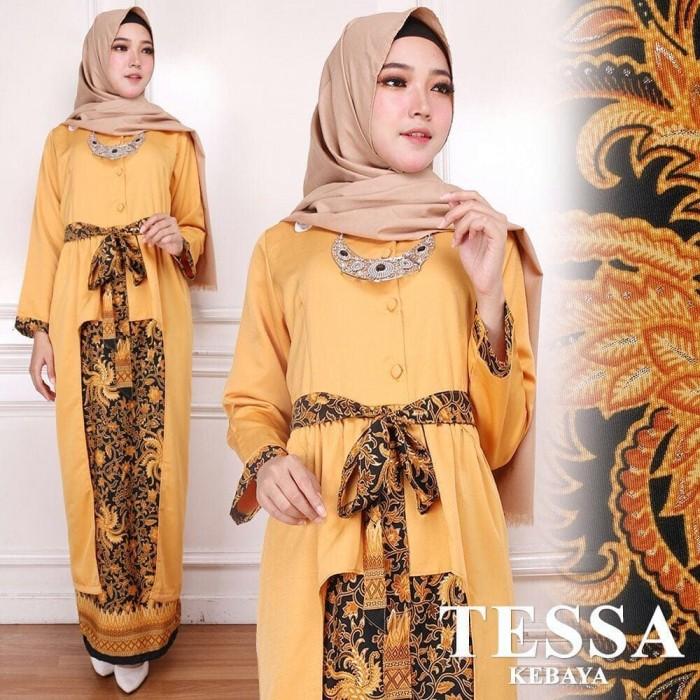 Jual Kebaya Panjang Batik Model Kebaya Muslim Tesa Kebaya Gold Dki Jakarta Sarika Fashion Muslim Tokopedia