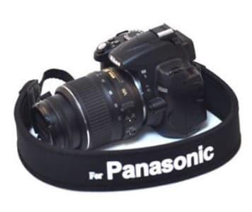 harga Panasonic strap neck tali kamera hitam putih Tokopedia.com