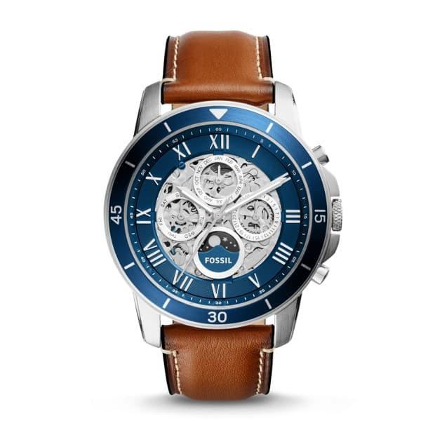 harga Fossil grant sport automatic skeleton luggage leather watch me3140 Tokopedia.com