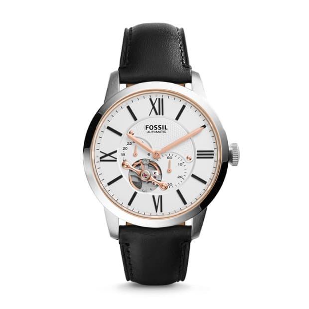 harga Fossil townsman automatic black leather watch me3104 Tokopedia.com
