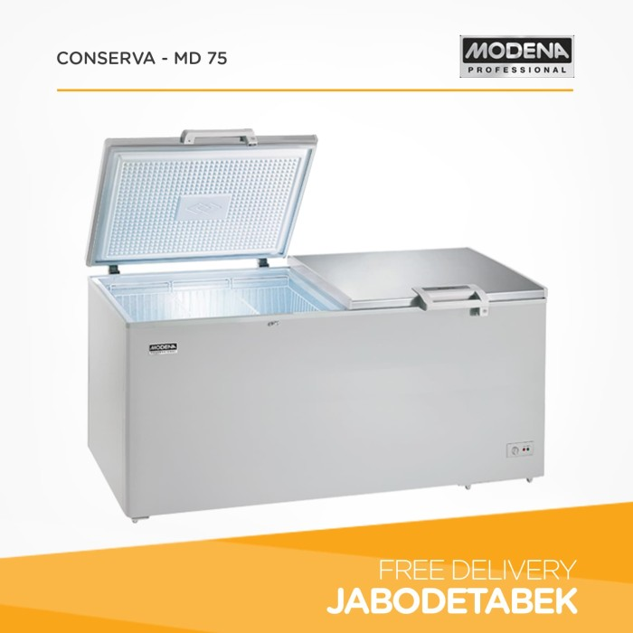 harga Chest freezer modena 750 liter conserva - md 75 (360 watt) Tokopedia.com