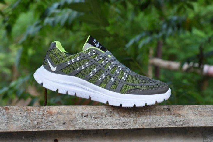 Jual New Sepatu Sport Murah Nike Airmax Flyknit 3D Skin Abu Strip ... 385f8c7a0c
