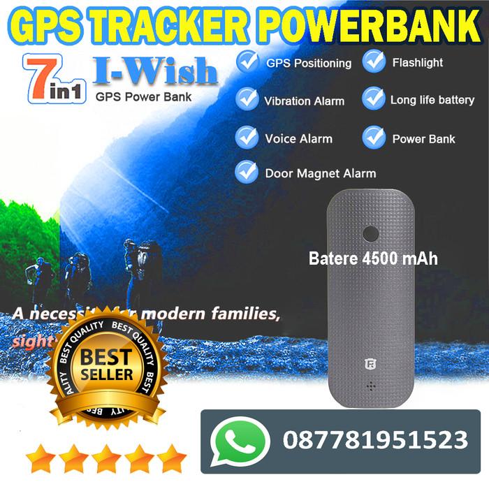 Alat Sadap Suara bentuk Powerbank Dengan Gps Tracker Portable (Hitam)