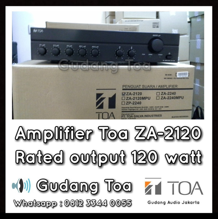 harga Amplifier speaker masjid toa za-2120 ( 120 watt ) Tokopedia.com