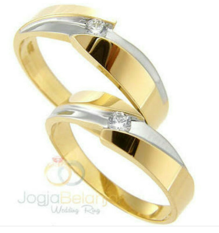 harga Cincin tunangan/nikah/kawin emas kuning/putih perhiasan mas 75% couple Tokopedia.com
