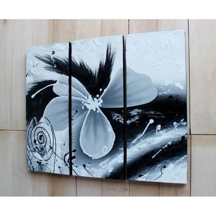 Jual Lukisan Bunga Abstrak Hitam Putih Kota Tangerang Selatan