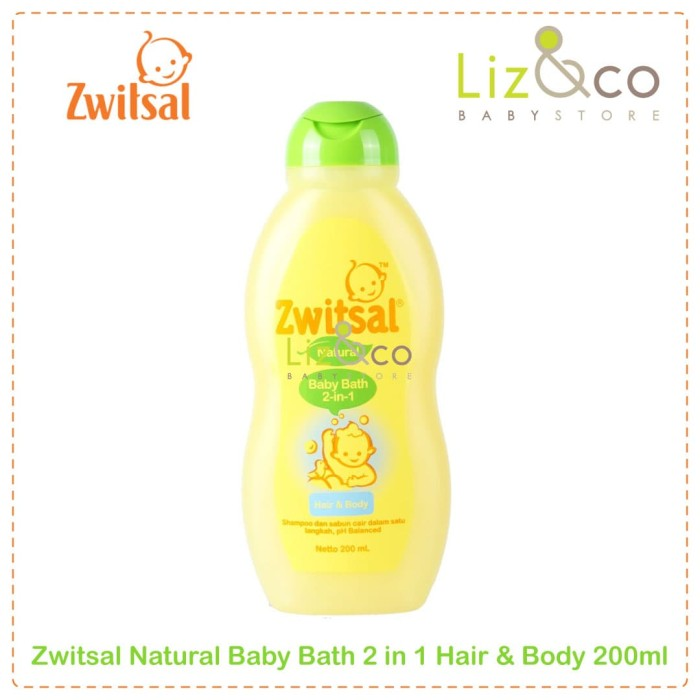 Zwitsal Natural Baby Bath 2in1 Hair & Body 200ml
