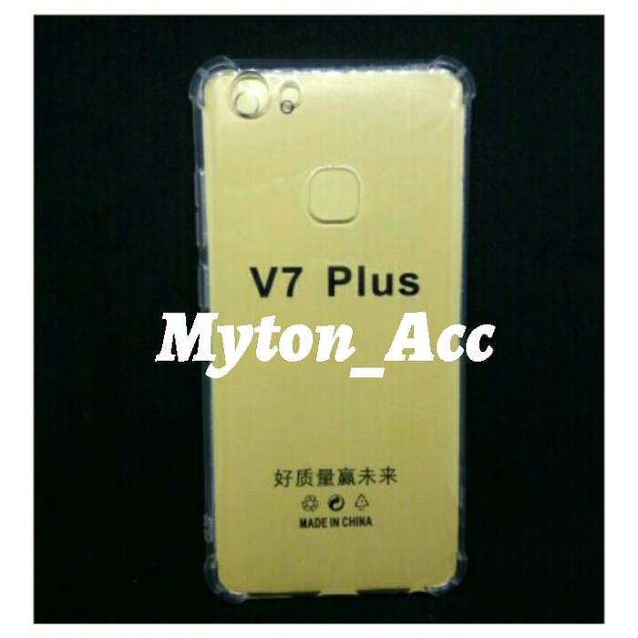Soft Case Anti Crack VIVO V7+ V7 PLUS Anticrack Transparan Softcase