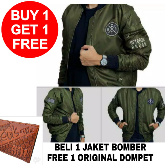 Jaket bomber pria original parasut parka cowok keren waterproof distro