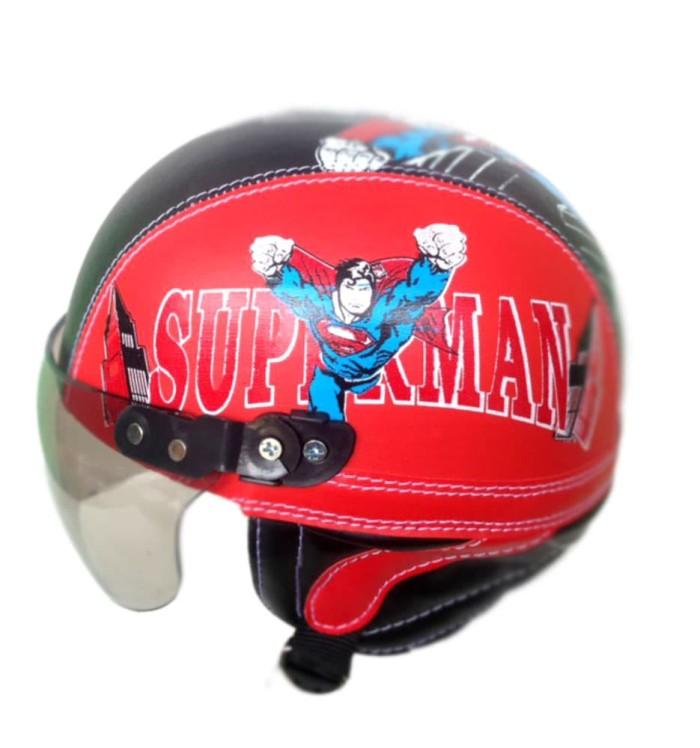 harga Helm anak anak retro superman kaca riben usia 1-5 thn merah hitm Tokopedia