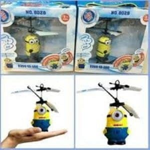 DI OBRAL Flying Heli Helicopter Toy Mainan Anak Terbang Minion Limited