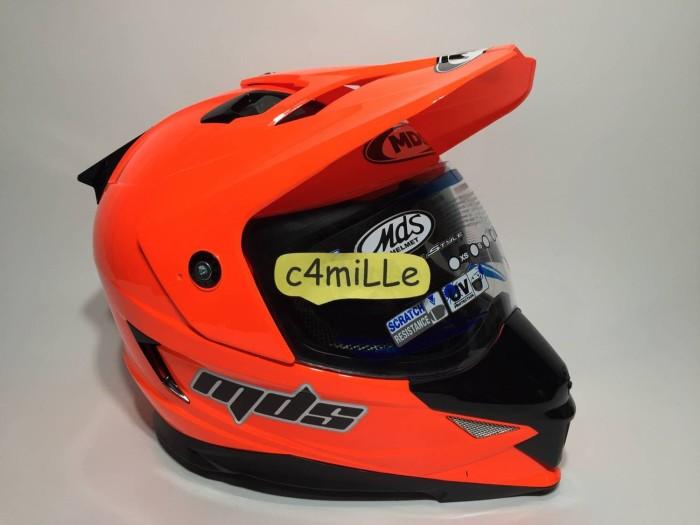 harga Helm mds super pro double visor red fluo Tokopedia.com