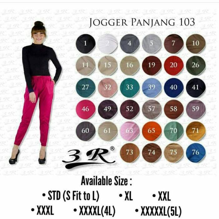 Jogger 103 5xl/xxxxxl untuk wanita tinggi 170+