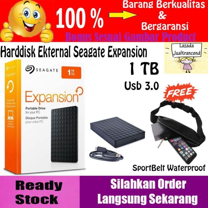 Seagate Expansion Harddisk Eksternal 1TB - Hitam + FREE
