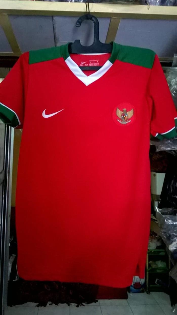 Jersey Timnas Indonesia Kaos Sepak Bola Merah Setelan Stelan Home Celana Asian Game 2018 Baju Kostum Jersy Jersi Futsal  Baru New Grade Lokal Size M Warna