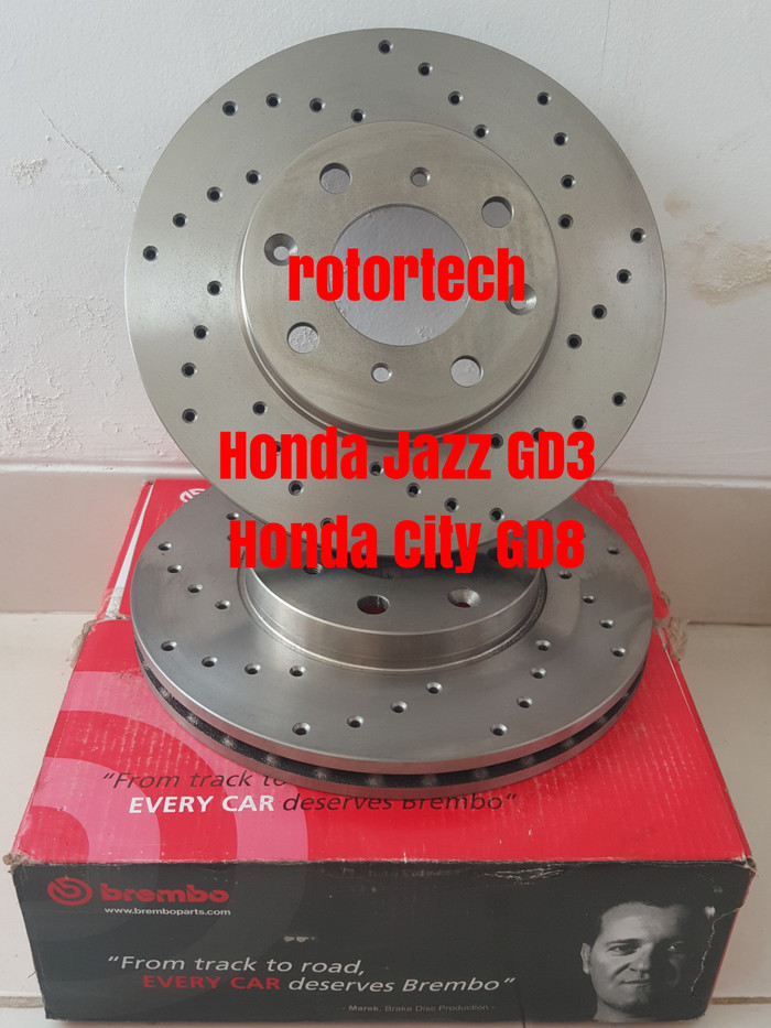 harga Brake disc cakram rem brembo custom cnc drill honda jazz gd3 city gd8 Tokopedia.com