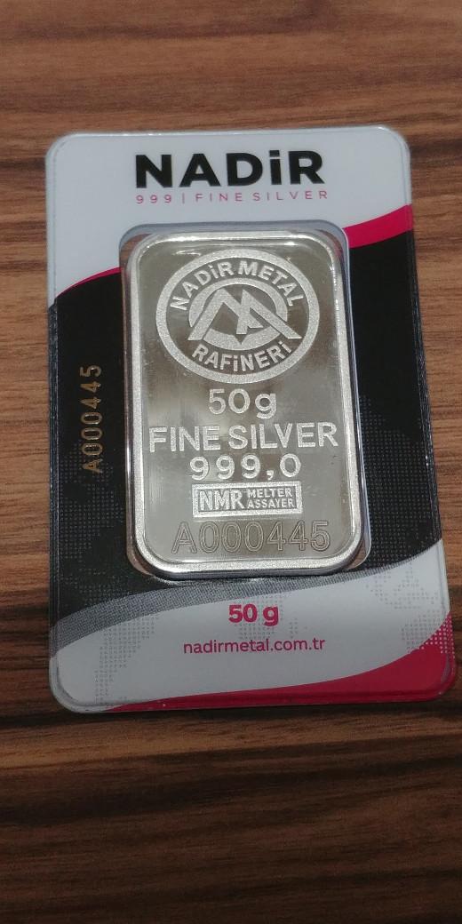 harga Perak batangan nadir 50 g fine silver 999 Tokopedia.com