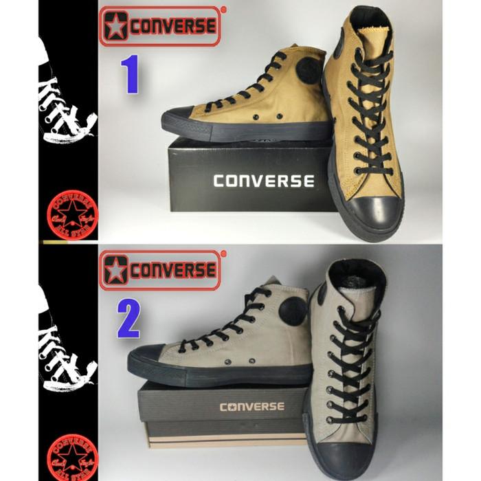 Jual SEPATU CONVERSE ALL STAR HIGH HITAM COKLAT + BOX GRADE ORIGINAL ... 0df17652bf