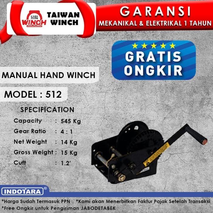 harga Taiwan winch manual hand winch 512 Tokopedia.com