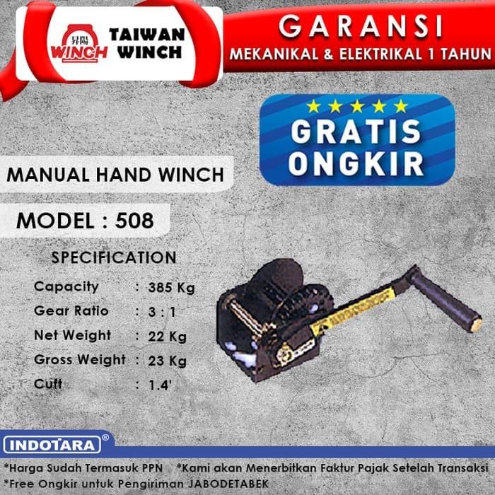 harga Taiwan winch manual hand winch 508 Tokopedia.com