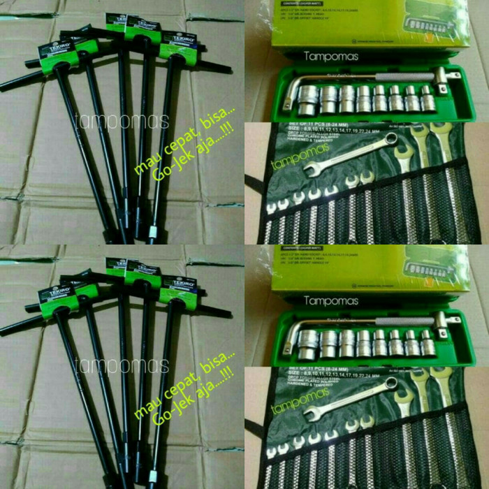 harga Kunci sok set tekiro 8-24mm - ring pas set 8-24mm + kunci sok t 5bh Tokopedia.com