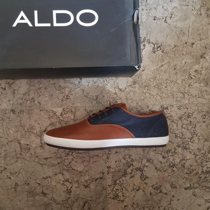 harga Sepatu sneakers aldo original leather brown bukan pedro everbest zara Tokopedia.com