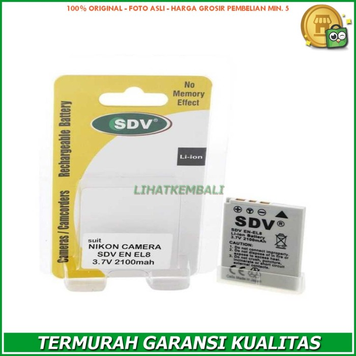 Sparepart Battery SDV For Nikon EN-EL8 Original