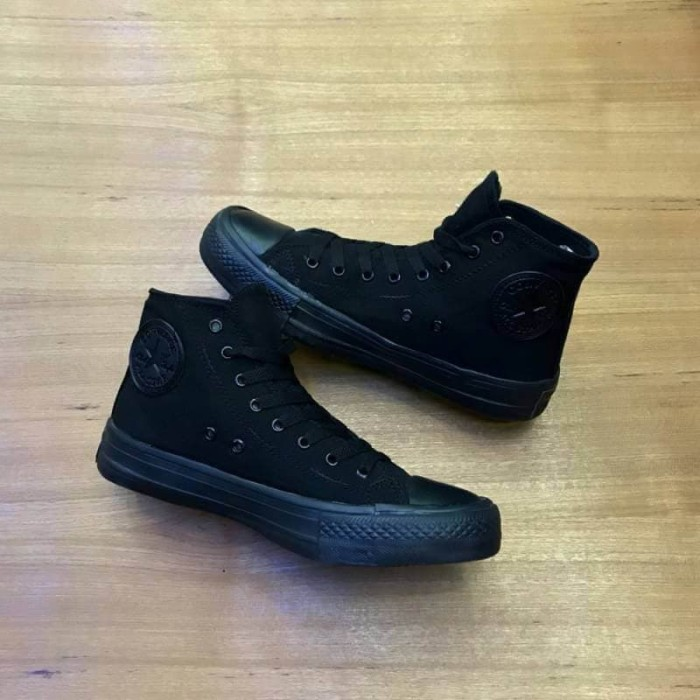 harga Sepatu wanita - converse ct all star hi full black - go Tokopedia.com