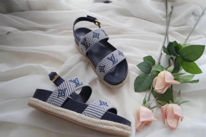 2e74642560a3 Jual Sepatu flat casual wanita cewek louis vuitton sail away sandal ...